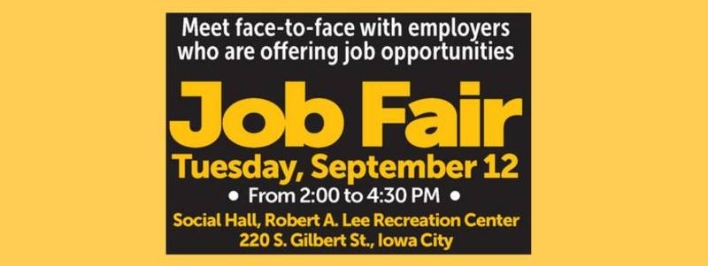 Entry Level Job Fair In Iowa City September 12, 2017 | Corridor