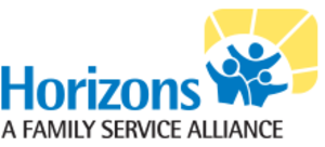 Horizons: A Family Service Alliance Logo